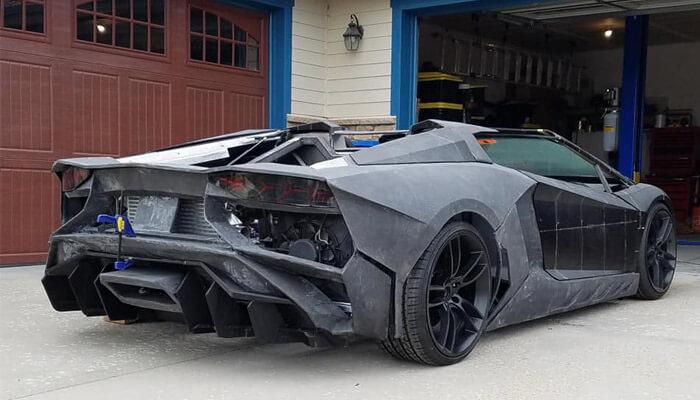 réplique 3D d'une Lamborghini