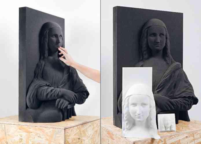 Peinture 3D pour aveugles et malvoyants