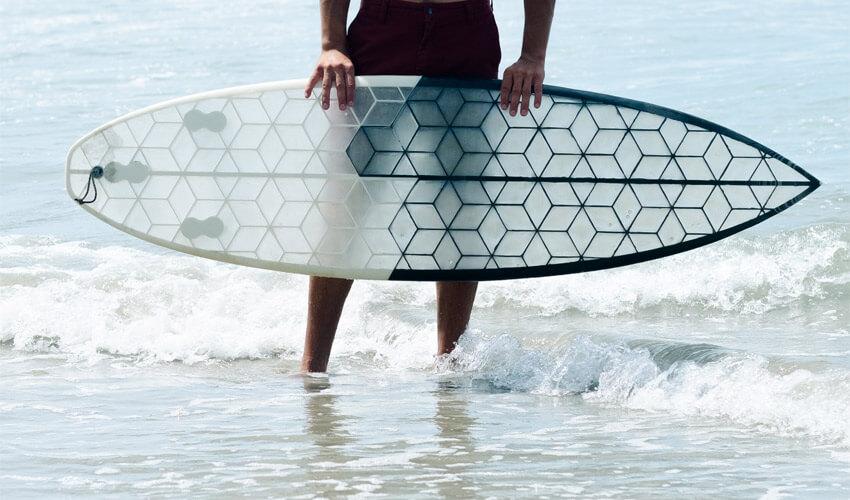 Planche de surf biodégradable en 3D