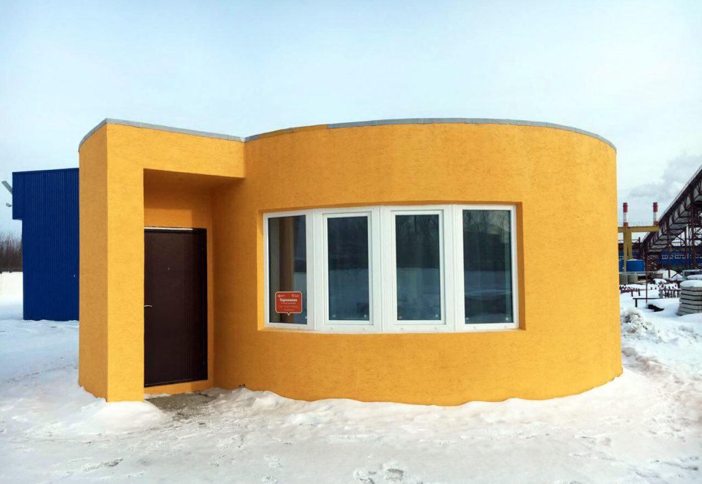 Impression 3D d'une maison en Russie