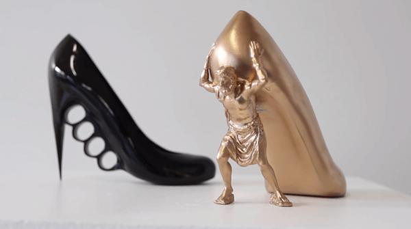 Talons Hauts. Objets 3D réalisés grâce à la fabrication additive